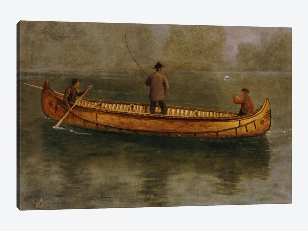 Fishing From A Canoe 1-piece Art Print