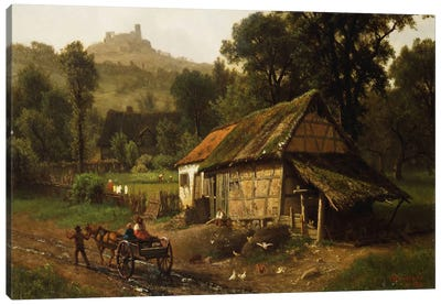 In The Foothills, 1861 Canvas Art Print
