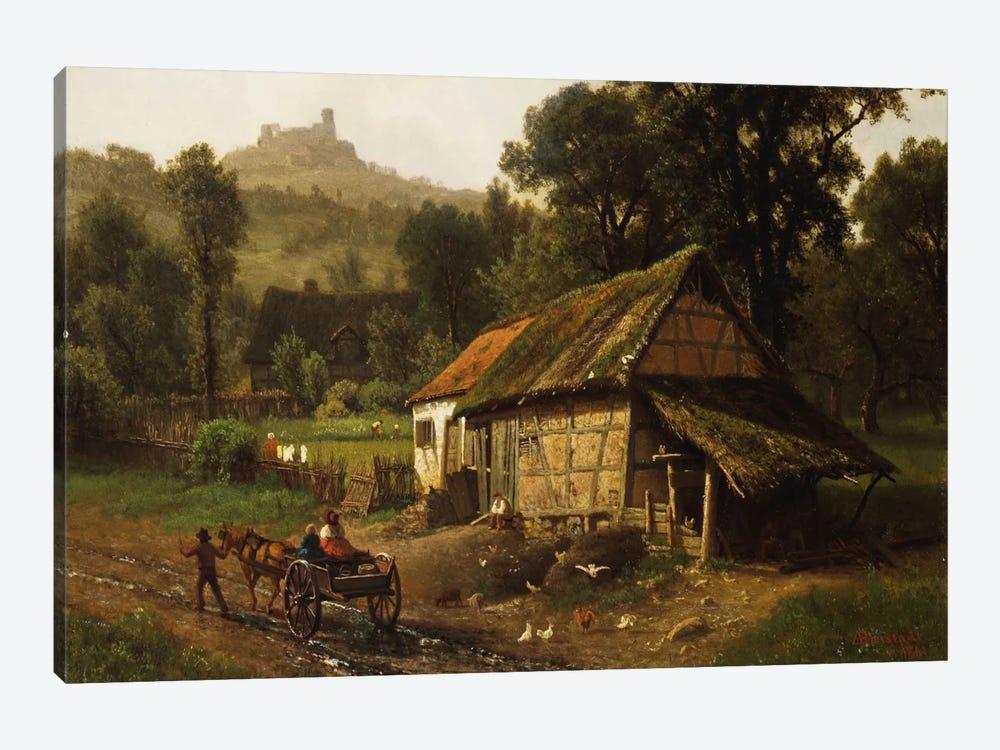 In The Foothills, 1861 by Albert Bierstadt 1-piece Canvas Wall Art