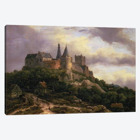 The Castle of Bentheim, mid 1650s  Canvas Print #BMN653} by Jacob Isaacksz van Ruisdael Canvas Art Print