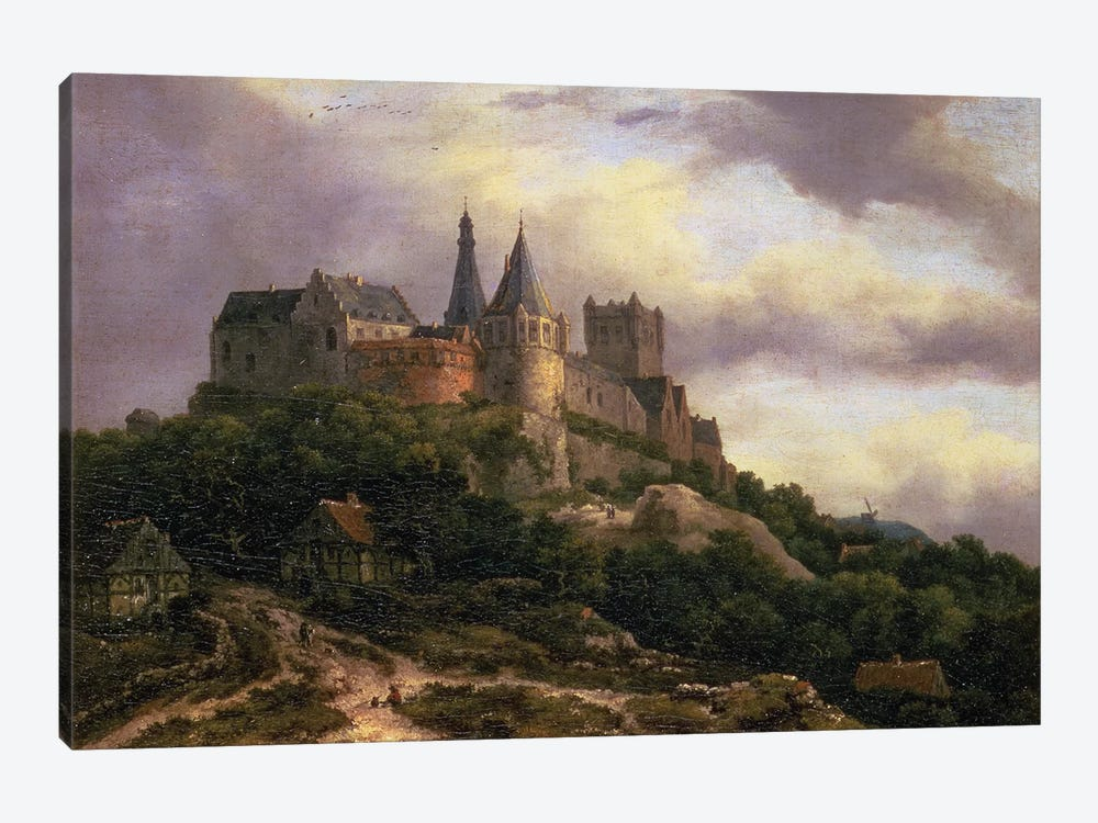 The Castle of Bentheim, mid 1650s  1-piece Canvas Print
