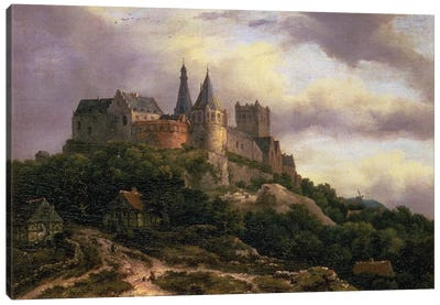 The Castle of Bentheim, mid 1650s  Canvas Art Print