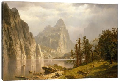 Merced River, Yosemite Valley, 1866 Canvas Art Print
