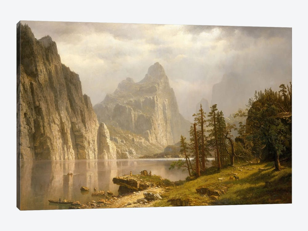 Merced River, Yosemite Valley, 1866 1-piece Canvas Print