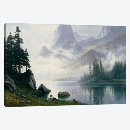 Mountain Out Of The Mist Canvas Print #BMN6542} by Albert Bierstadt Canvas Wall Art