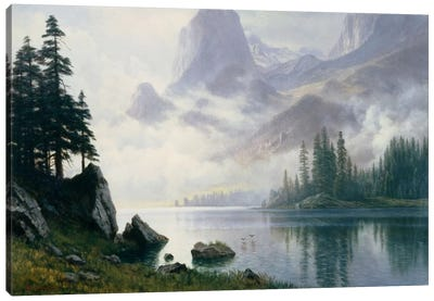 Mountain Out Of The Mist Canvas Art Print