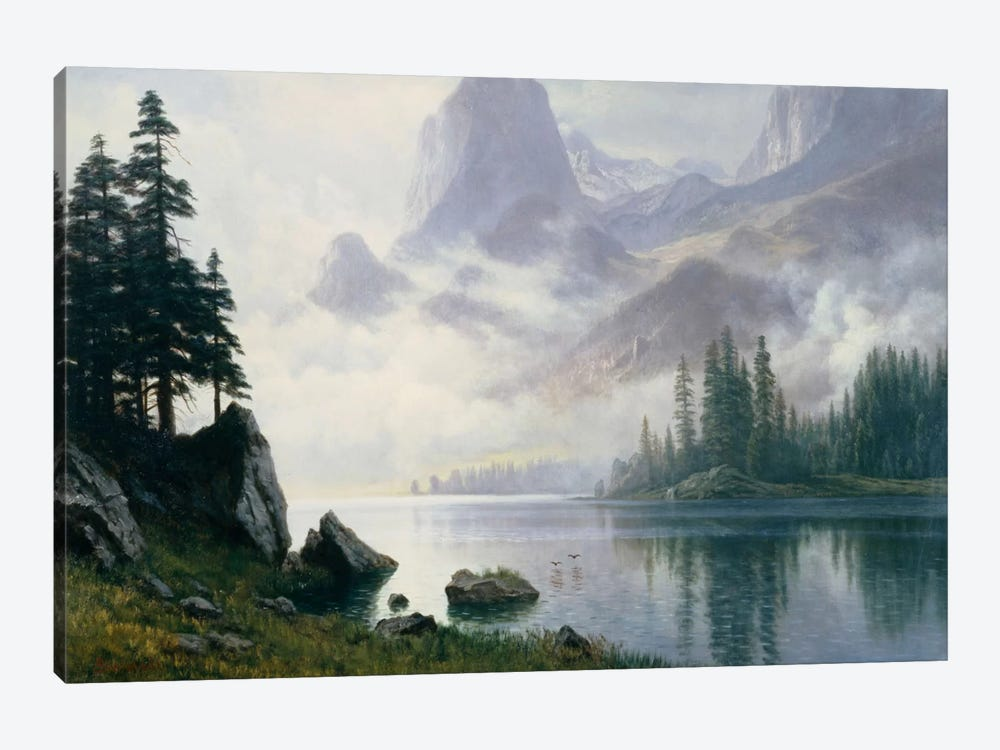Mountain Out Of The Mist by Albert Bierstadt 1-piece Art Print