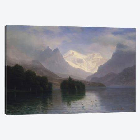 Mountain Scene, c.1880-90 Canvas Print #BMN6543} by Albert Bierstadt Canvas Wall Art