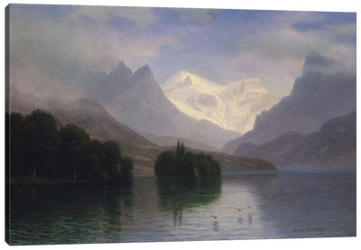 Mountain Scene, c.1880-90 Canvas Art Print