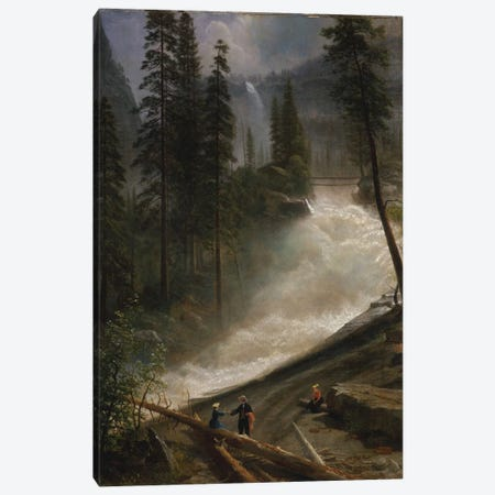Nevada Falls, Yosemite, c.1872-73 Canvas Print #BMN6544} by Albert Bierstadt Art Print