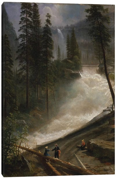 Nevada Falls, Yosemite, c.1872-73 Canvas Art Print