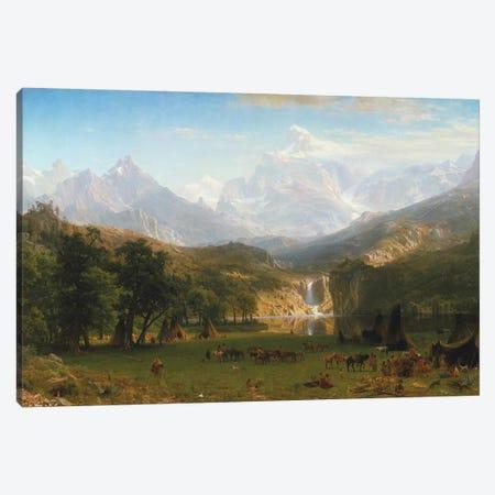 Rocky Mountains, Lander's Peak, 1863 Canvas Print #BMN6545} by Albert Bierstadt Canvas Print