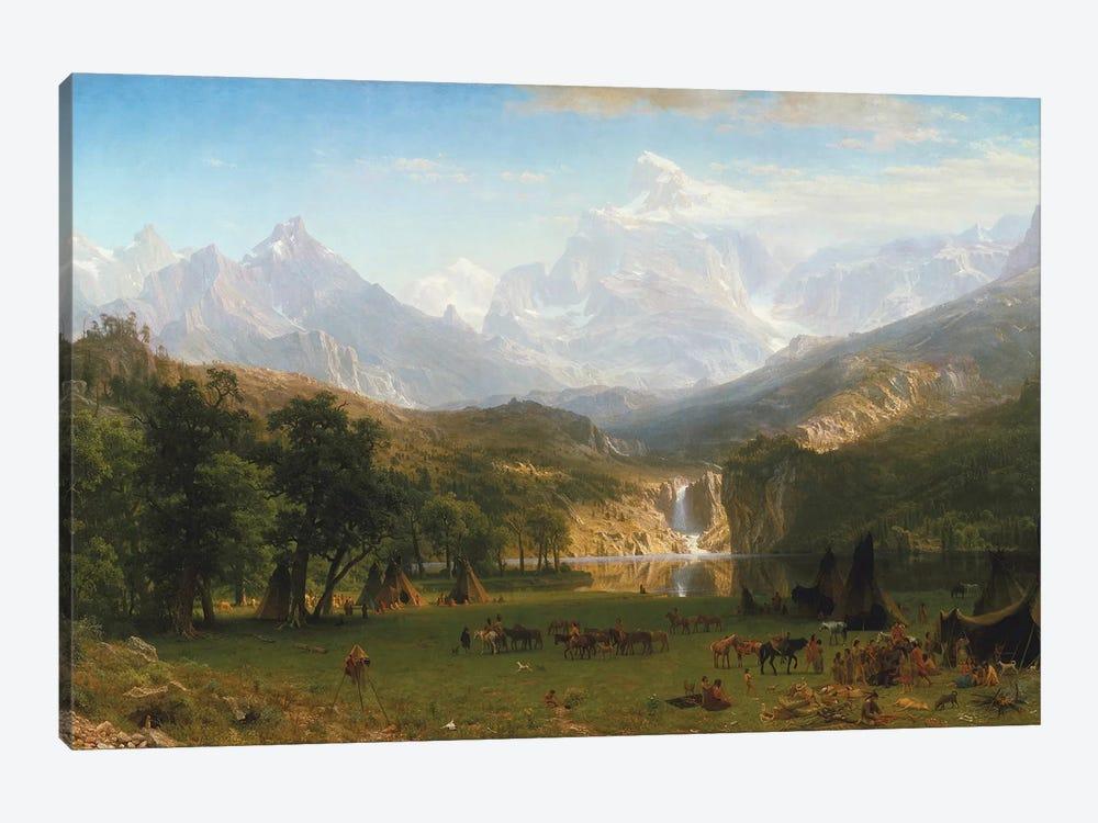 Rocky Mountains, Lander's Peak, 1863 by Albert Bierstadt 1-piece Canvas Artwork