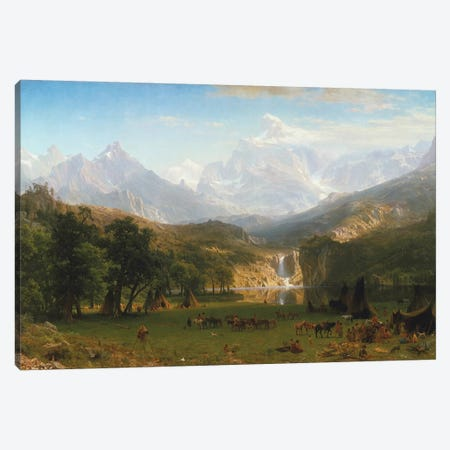 Rocky Mountains, Lander's Peak, 1863 Canvas Print #BMN6545} by Albert Bierstadt Canvas Print