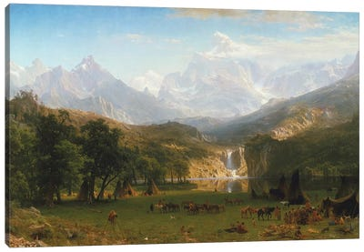 Rocky Mountains, Lander's Peak, 1863 Canvas Art Print