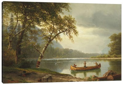 Salmon Fishing On The Caspapediac River (Quebec, Canada) Canvas Art Print