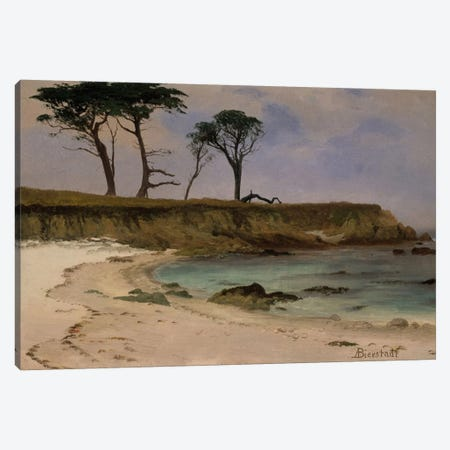 Sea Cove, c.1880-90 Canvas Print #BMN6547} by Albert Bierstadt Canvas Art Print