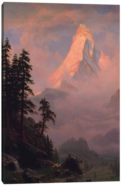 Sunrise On The Matterhorn, after 1875 Canvas Art Print
