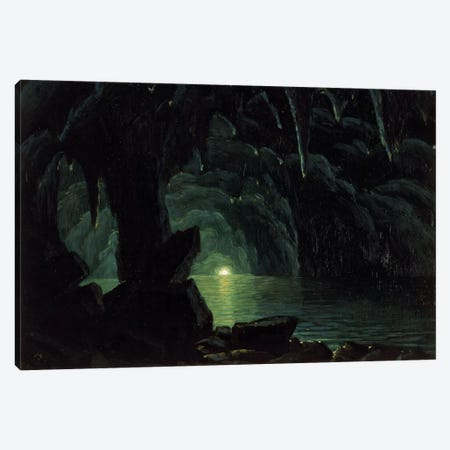 The Blue Grotto, Capri Canvas Print #BMN6549} by Albert Bierstadt Canvas Wall Art