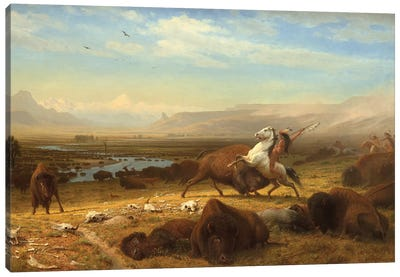 The Last Of The Buffalo, c.1888 Canvas Art Print