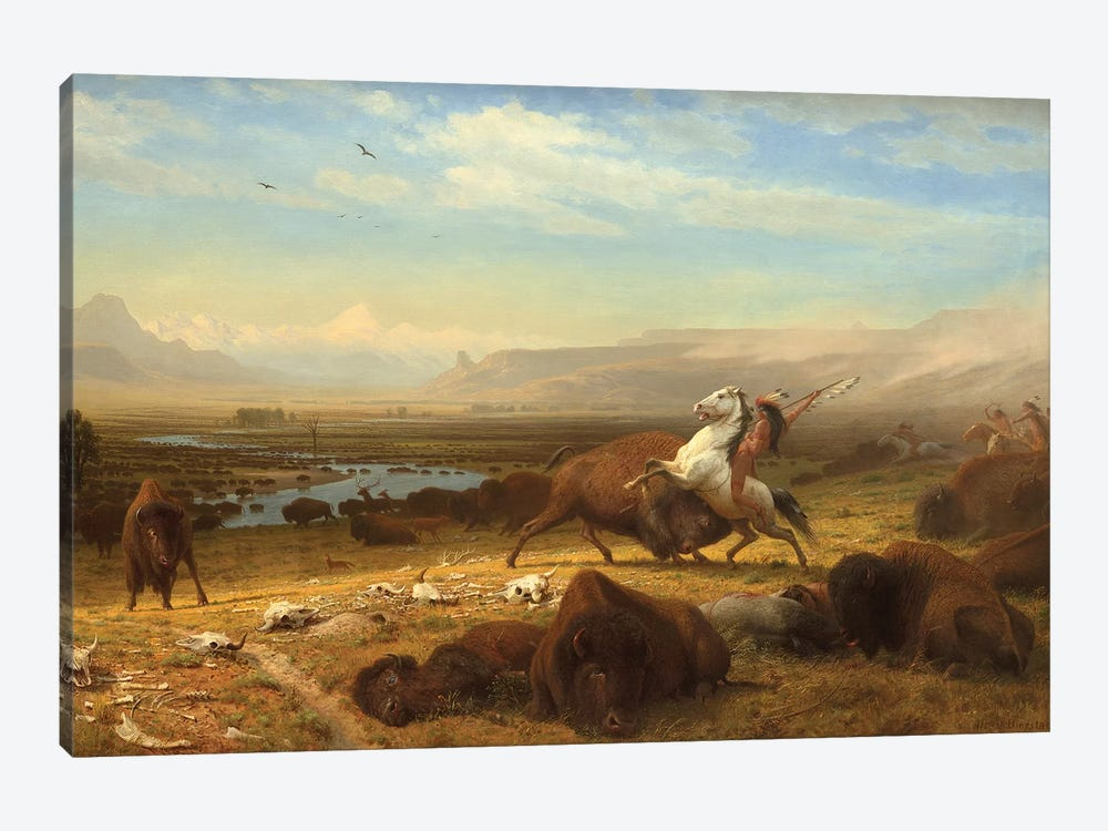 The Last Of The Buffalo, c.1888 by Albert Bierstadt 1-piece Canvas Artwork