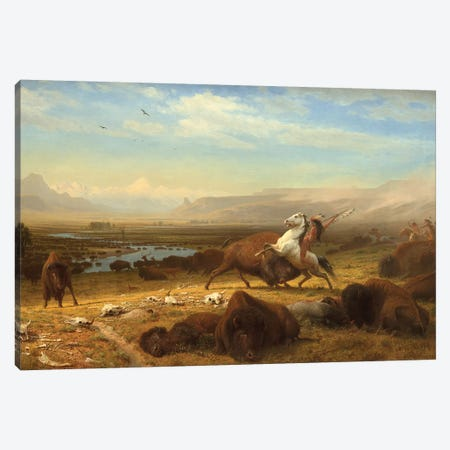 The Last Of The Buffalo, c.1888 Canvas Print #BMN6550} by Albert Bierstadt Canvas Art Print