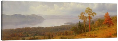 View On The Hudson Looking Across The Tappen Zee Towards Hook Mountain, 1866 Canvas Art Print