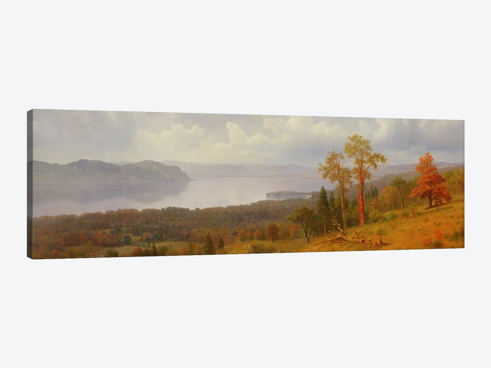 View On The Hudson Looking Across The Tappen Zee Towards Hook Mountain, 1866 by Albert Bierstadt 1-piece Canvas Print