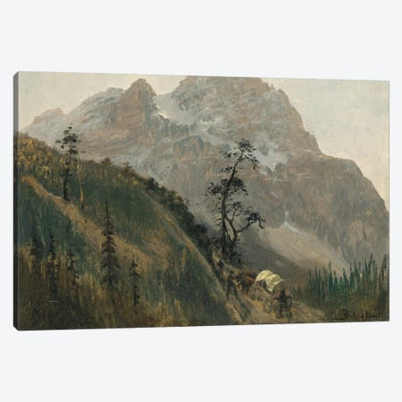 Western Trail, The Rockies Canvas Print #BMN6552} by Albert Bierstadt Canvas Art Print