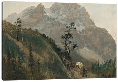 Western Trail, The Rockies Canvas Print #BMN6552