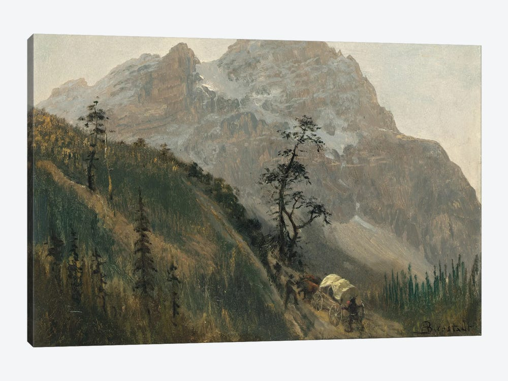 Western Trail, The Rockies by Albert Bierstadt 1-piece Canvas Artwork