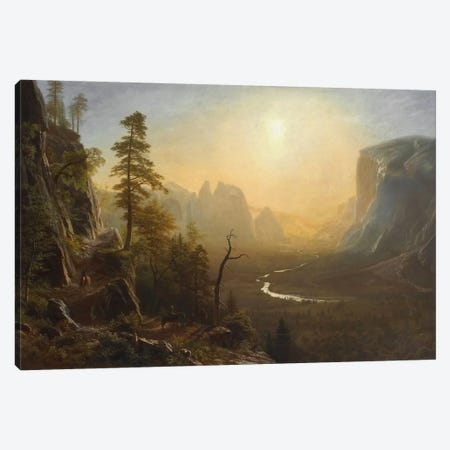 Yosemite Valley, Glacier Point Trail, c.1873 Canvas Print #BMN6553} by Albert Bierstadt Art Print