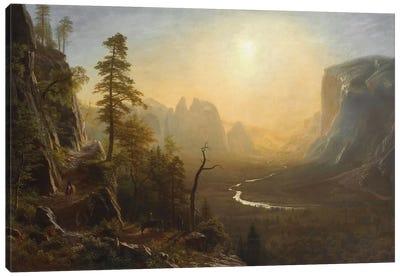 Yosemite Valley, Glacier Point Trail, c.1873 Canvas Print #BMN6553