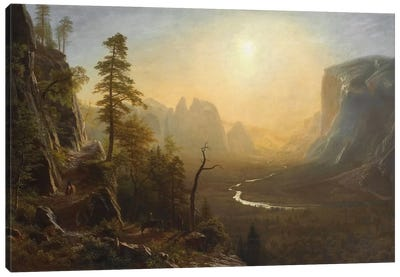 Yosemite Valley, Glacier Point Trail, c.1873 Canvas Art Print
