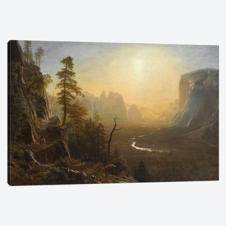 Yosemite Valley, Glacier Point Trail, c.1873 Canvas Print #BMN6553} by Albert Bierstadt Art Print