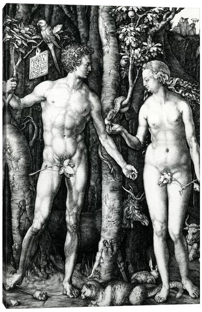 Adam And Eve, 1504 Canvas Art Print