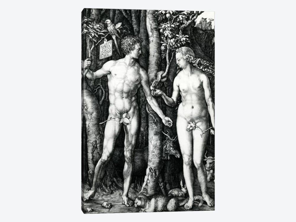 Adam And Eve, 1504 by Albrecht Dürer 1-piece Canvas Art