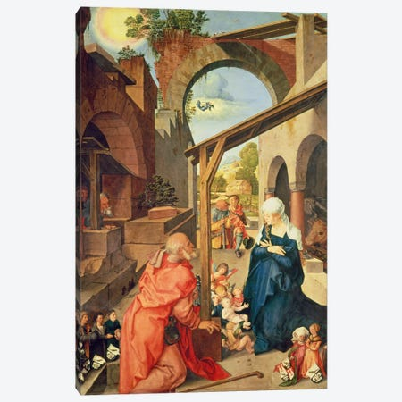 Central Panel, Paumgartner Altarpiece, c.1500 Canvas Print #BMN6558} by Albrecht Dürer Art Print