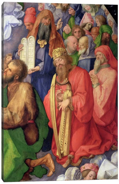 Detail Of King David, The Landauer Altarpiece, 1511 Canvas Art Print