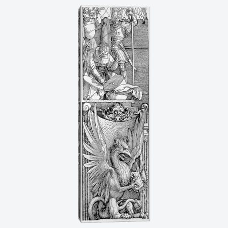Detail Of Pillar, Triumphal Arch (Arch Of Maximilian I) Canvas Print #BMN6560} by Albrecht Dürer Canvas Artwork