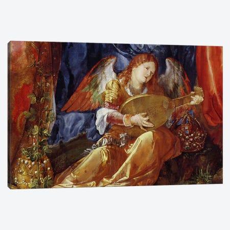 Detail Of The Angel Musician, The Feast Of The Rose Garlands, 1506 Canvas Print #BMN6561} by Albrecht Dürer Canvas Art
