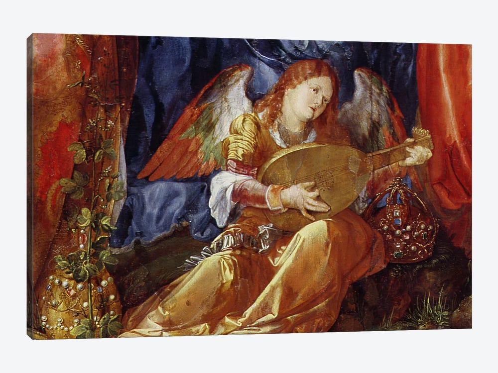 Detail Of The Angel Musician, The Feast Of The Rose Garlands, 1506 by Albrecht Dürer 1-piece Canvas Artwork