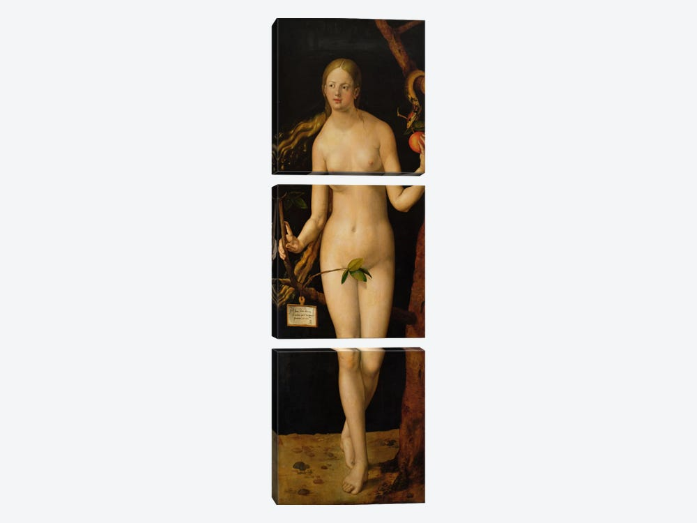 Eve, 1507 by Albrecht Dürer 3-piece Art Print