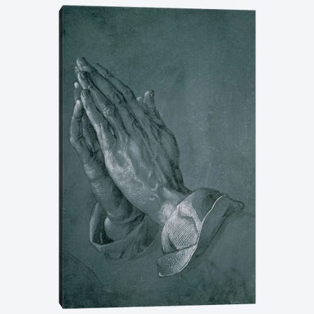 Hands Of An Apostle, 1508 Canvas Print #BMN6564} by Albrecht Dürer Canvas Print