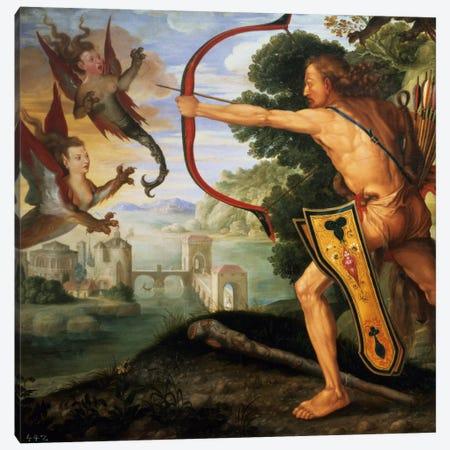 Hercules And The Stymphalian Birds, 1600 Canvas Print #BMN6567} by Albrecht Dürer Canvas Art Print