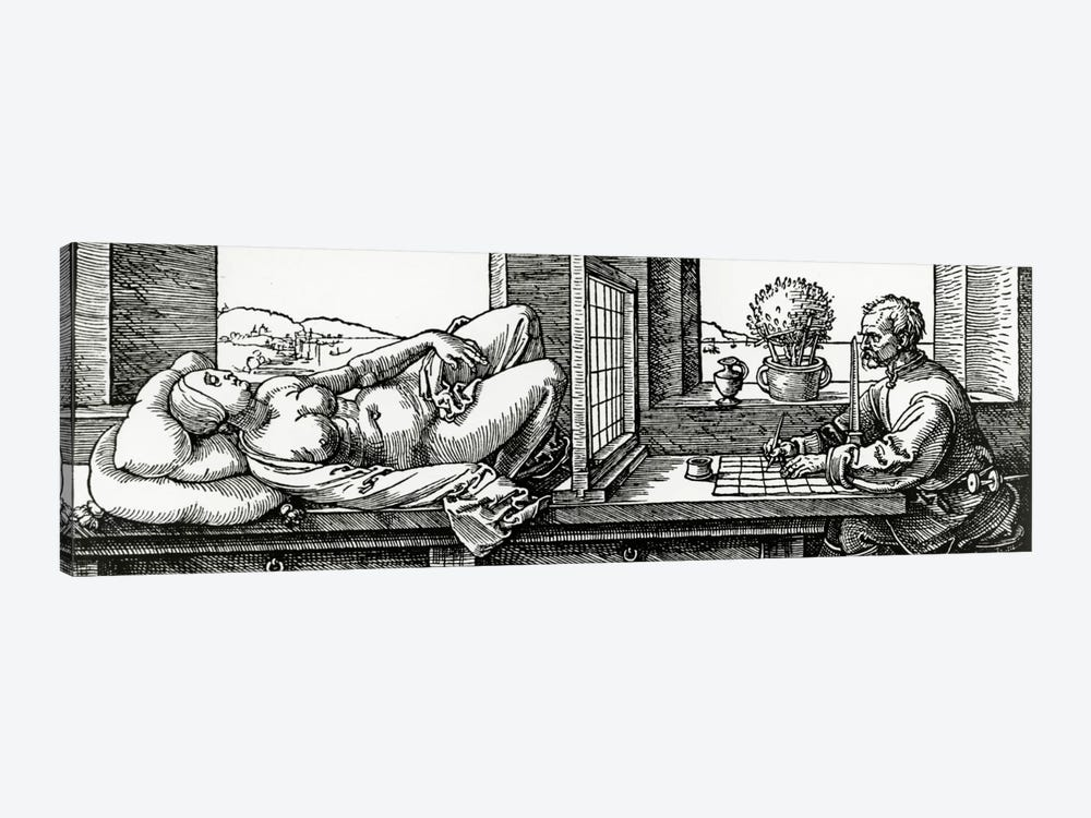 Illustration From Four Books On Measurement by Albrecht Dürer 1-piece Art Print