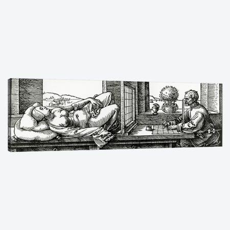 Illustration From Four Books On Measurement Canvas Print #BMN6568} by Albrecht Dürer Canvas Wall Art