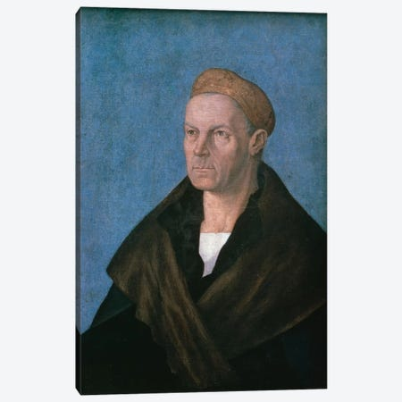 Jakob Fugger, The Rich Canvas Print #BMN6569} by Albrecht Dürer Canvas Art
