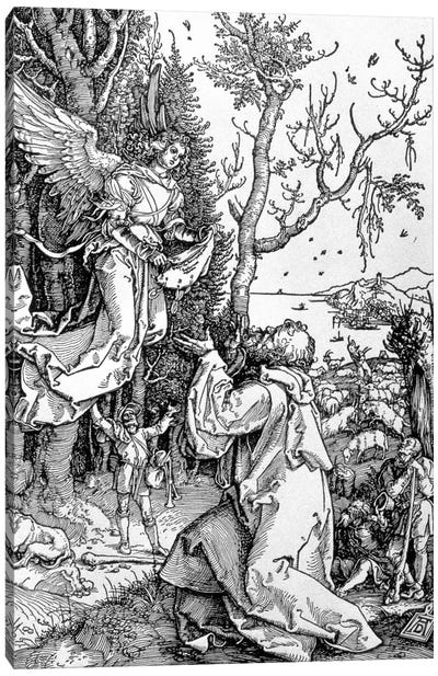Joachim And The Angel (Illustration From The Life Of The Virgin) Canvas Art Print