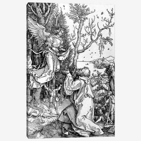 Joachim And The Angel (Illustration From The Life Of The Virgin) Canvas Print #BMN6570} by Albrecht Dürer Art Print